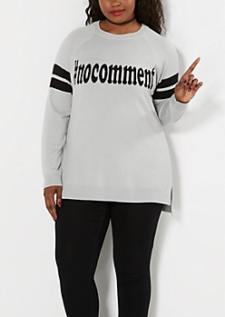 Plus #Nocomment Raglan Sweater