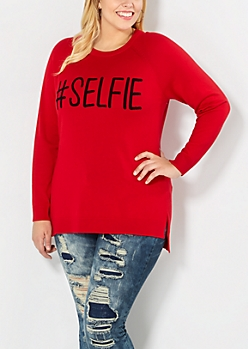Plus #Selfie Raglan Sweater