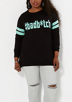 Plus #Badb*tch Raglan Sweater