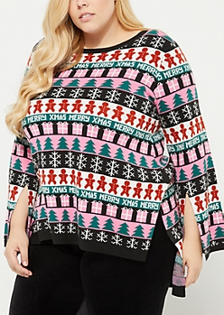 Plus Gingerbread Christmas Tunic Sweater