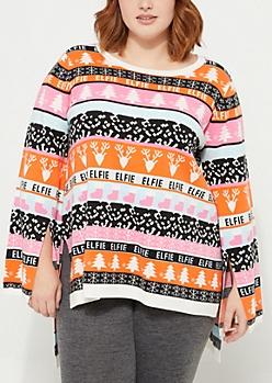 Plus Elfie Christmas Tunic Sweater