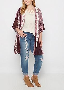 Plus Plum Folklore Lacy Kimono