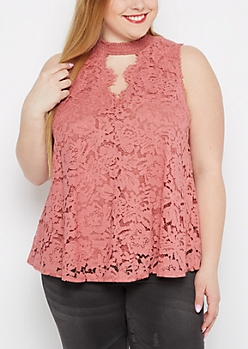 Plus Lace Tank Top By Clover + Scout