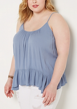 Plus Gauze Lattice Hanky Cami