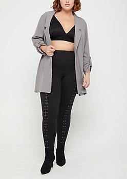 Plus Gray Oversized Blazer