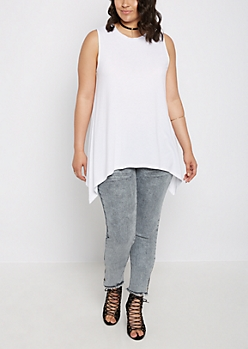 Plus White Sharkbite Tunic Tank