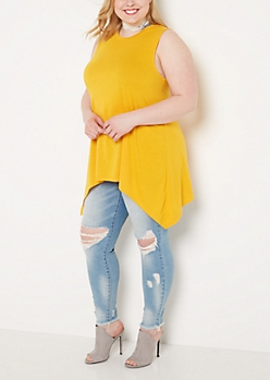 Plus Mustard Sharkbite Tunic Tank