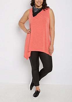 Plus Coral Sharkbite Tunic Tank