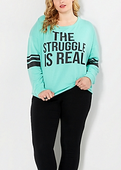 Plus The Struggle Varsity Top