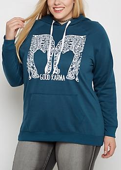 Plus Good Karma Fleece Hoodie