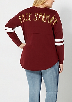 Plus Sequined Free Spirit Top
