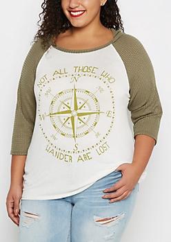 Plus Compass Thermal Raglan Hooded Shirt