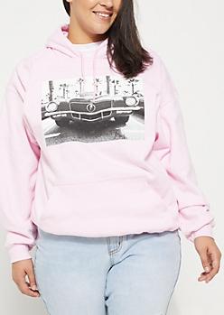 Plus Pink Car Hoodie