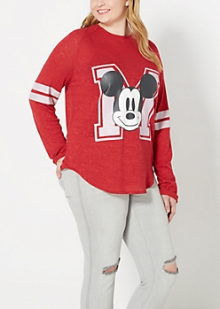 Plus Long Sleeve Mickey Shirt