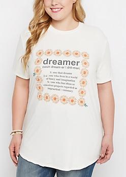 Plus Dreamer Brushed Tunic Tee