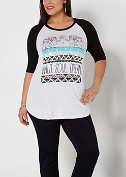 Plus Foil Wild Soul Dream Baseball Tee