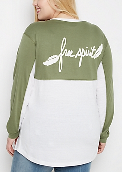 Plus Free Spirit Drop Yoke Top