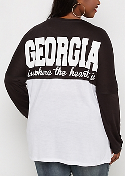 Plus Georgia Heart Is Drop Yoke Top