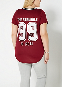 Plus The Struggle Varsity Tee