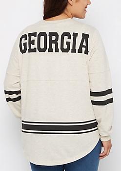 Plus Georgia Marled Drop Yoke Top
