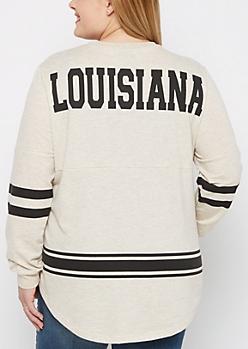 Plus Louisiana Marled Drop Yoke Top