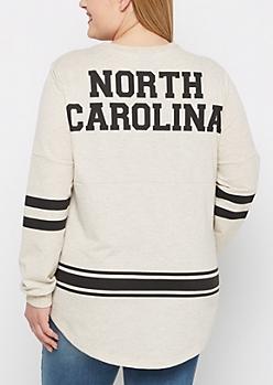 Plus North Carolina Marled Drop Yoke Top
