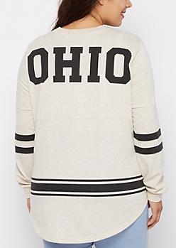 Plus Ohio Marled Drop Yoke Top