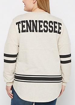 Plus Tennessee Marled Drop Yoke Top