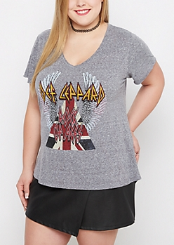 Plus Rock Of Ages V-Neck Tee