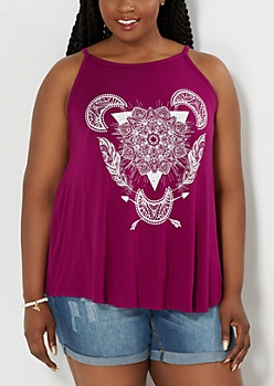 Plus Mystical Boho Swing Tank