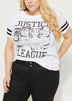 Plus Justice League Striped Tee