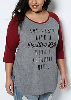 Plus Positive Life Raglan Tee