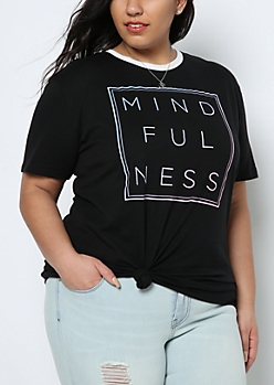 Plus Mindfulness Ringer Tee