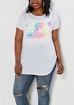 Plus Colorful Wanderlust Tee