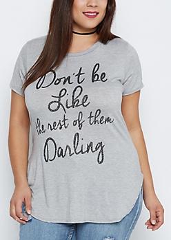 Plus Glitter Darling Shirttail Tee