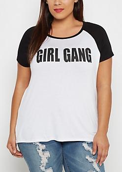 Plus Girl Gang Raglan Tee
