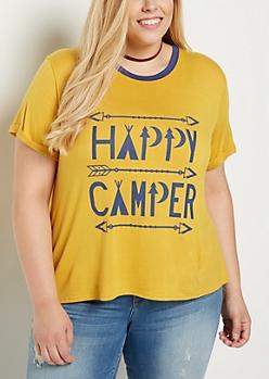 Plus Happy Camper Tee