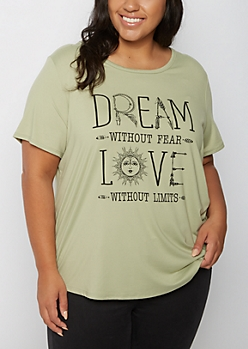 Plus Dream Without Fear Tee