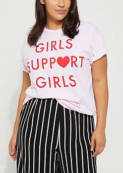 Plus Girls Support Girls Tee