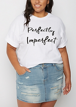 Plus Perfectly Imperfect Crop Tee