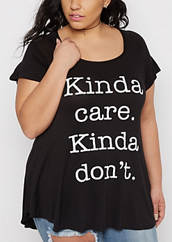 Plus Kinda Care Cage-Back Tee