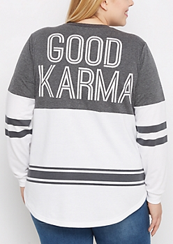 Plus Good Karma Drop Yoke Sweatshirt