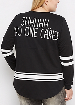 Plus OMG! Drop Yoke Sweatshirt