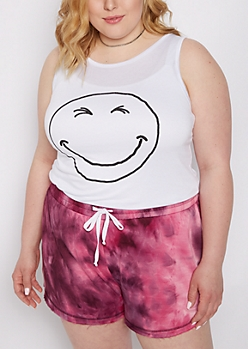 Plus Smiley Face Tank Top