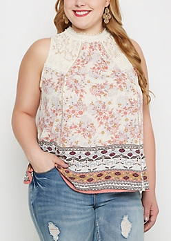 Plus Floral Folklore Tank By Clover + Scout®