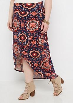 Plus Folklore Medallion Tulip Skirt