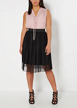 Plus Black Tulle Ballerina Skirt