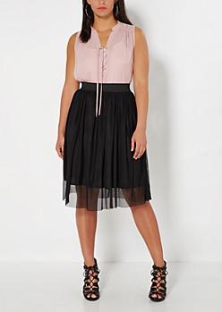 Plus Black Tulle Ballerina Skirt