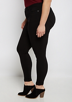 Plus Black Better Butt Jegging