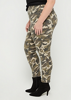 Plus Camo Better Butt High Rise Jegging